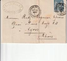 Chalon Sur Saone  1884 Charvet Fabrique De Vinaigres De Bourgogne - Postmark Collection (Covers)