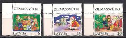 Latvia 1996  Christmas. Mi 444 - 446 Corner - Lettonie