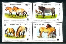 Nfd277s WWF FAUNA ZOOGDIEREN PAARDEN HORSES PRZEWALSKY MAMMALS PFERDE MONGOLIA 2000 PF/MNH - W.W.F.