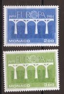 Europa CEPT 1984 Monaco Y&T N°1418 à 1419 - Michel N°1622 à 1623 *** - 1984
