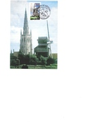 Moulin Du Noordmeulen Et église Saint-Vaast Hondschoote Timbre Premier Jour 18 09 2004 - Moulins