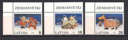 Latvia 1997 Christmas. Mi 471 - 473 Corner - Lettonie