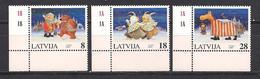 Latvia 1997 Christmas. Mi 471 - 473 Corner Bottom - Lettonie