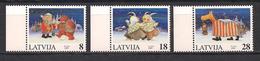 Latvia 1997 Christmas. Mi 471 - 473 - Lettonie