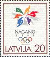 Latvia 1998 Winter Olympic Games, Nagano'98. Mi 474 - Winter 1998: Nagano