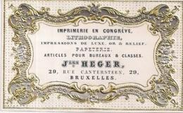 """BRUXELLES-BRUSSEL""""J.HEGER-IMPRIMERIE-ARTICLES POUR BUREAUX""""117/75MM - Porseleinkaarten"""