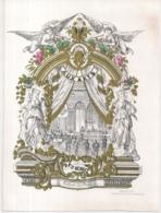 "BRUSSEL-BRUXELLES""CAFE RESTAURANT AUX ARTS-CALENDRIER 1857-KALENDER 1857""LITH.CARBOTE FR.-250/185MM - Porseleinkaarten"