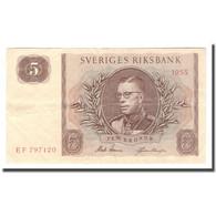 Billet, Suède, 5 Kronor, 1955, 1955, KM:42b, TB+ - Suecia