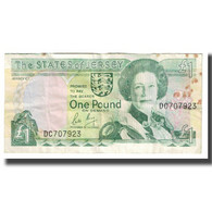 Billet, Jersey, 1 Pound, KM:26a, TB - Jersey
