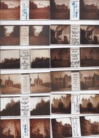 Châteaux De France, 58 Plaques De Verre Stéréo Format 43 X 105 Mm Vérascope RICHARD Dans Boîte Rangement - Plaques De Verre