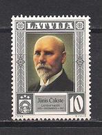 Latvia 1998 President Janis Chakste. Mi 489 - Lettonie