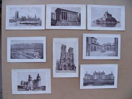 Lot 17 RECOMPENSES SOLAIRES Années 1910 Ville De Sarcelles Mont Saint Michel Nîmes Reims Londres Grenoble Chambord Rouen - Diplômes & Bulletins Scolaires