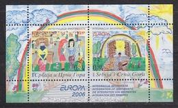 Europa Cept  2006 Serbia & Montenegro M/s ** Mnh (47680C) - Europa-CEPT
