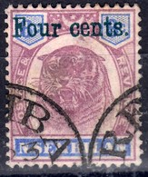 Negri Sembilan 1898 4c/8c SG19 - Fine Used - Negri Sembilan