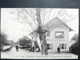 74 ,faucigny ,pension De Famille édouard Mossuz En 1917........rare - Faucigny