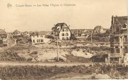 COXYDE-BAINS : Les Villas L'Aiglon Et Chantecler - RARE CPA - Cachet De La Poste 1932 - Koksijde