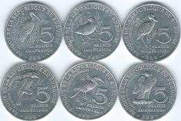 Burundi - 5 Francs - 2014 - Birds X 6 (KMs 25-30) - Burundi
