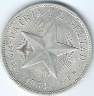 Cuba - 1 Peso - 1934 - K15.2 - AUNC - Cuba