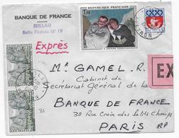 1967 - ENVELOPPE EXPRES De MILLAU (AVEYRON) => PARIS - 1961-....
