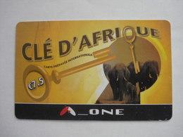 Carte Prépayée Française Clé D'Afrique  ( Utilisée ). - Prepaid Cards: Other