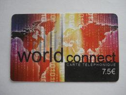 Carte Prépayée Française World Connect  ( Utilisée ). - France