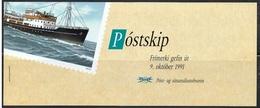 ICELAND Ijsland Islande 1991 Carnet C 706 Neuf Bateau Postal Boat - Booklets