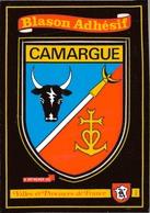 13 - CAMARGUE / CARTE POSTALE BLASON ADHESIF - France