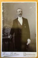 Photo Cabinet Militaire Soldat Gendarme ? Guerre Franco-allemande De 1870 1871 Président Des Anciens Militaires - Guerre, Militaire