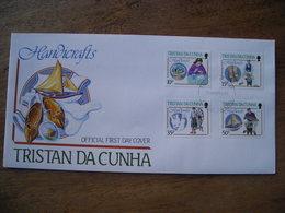 Tristan Da Cunha, FDC 1988 Handicrafts 4 Timbres - Tristan Da Cunha