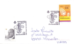 ESPANA PALEONTOLOGIA AL ANDALUS     POSTMARKE COVER    (MAGG20300) - Pflanzen Und Botanik