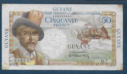 GUYANE - Billet De 50 Francs ( Rare ) - Francia