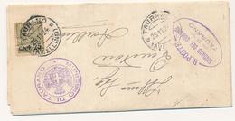 1924 FLOREALE 0,25/0,45 SINGOLO ISOALTO SU LETTERA X SINADCI RARO - 1900-44 Vittorio Emanuele III