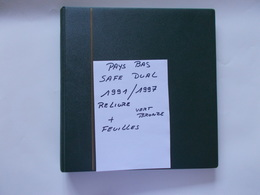 PAYS  BAS  - ALBUM SAFE DUAL Reliure Vert Bronze  + Feuilles De L'année 1991 A 1997 - Bindwerk Met Pagina's