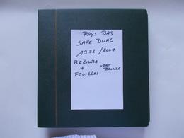PAYS  BAS  - ALBUM SAFE DUAL Reliure Vert Bronze  + Feuilles De L'année 1998 A 2001 - Bindwerk Met Pagina's