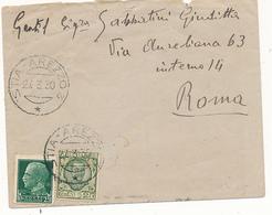 1930 GEMELLI PURI TUTTI VERDI 0,25 IMPERIALE + 0,25 FLOREALE - Marcofilía