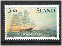 "Aland 1999 1""Pamir"" And ""Passat"" Sailing Ships Off Port Victoria (Australia)  Mi 155 MNH(**) - Aland"