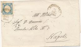 31-12-1861 CAPODANNO PROVINCE NAPOLETANE MASSAFRA CERCHIO SU 2 GRANA X NAPOLI - Naples