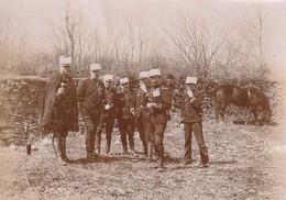 Photo Avril 1896 Secteur De Langres, Officiers Aux Manoeuvres De Garnison (A221) - Regiments