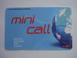 Carte Prépayée Française Mini Call ( Utilisée ). - France