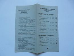 AUTOCARS SNCF - ETS TRAFFORT à Grenoble : Horaires Et Tarifs 1950 - Europe