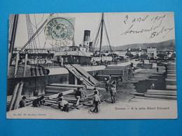 """06 ) Cannes - N° 219 - A La Jeté Albert Edouard """" Le Port """" Déchargement  De Bois """" - Année 1903 - EDIT- Stocker - Cannes"""