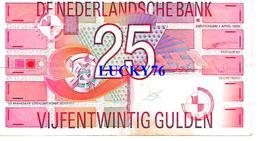 Billet De 25 Gulden 1989 Pays Bas (pliure Centrale) - [2] 1815-… : Kingdom Of The Netherlands