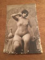 Ancienne Carte Postale Photographie Erotique Femme Nu 1930 JA Paris - Nus Adultes (< 1960)