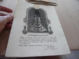 Religion Attestation Attestazione Formule Signée Autographe Sceau 1870 Casa Di Loreto - Religion & Esotérisme