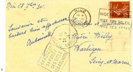 Flamme Daguin  Sur CP De:  Barbizon (Seine Et Marne) :  Barbizon-sa Forêt-ses Sites-ses Rochers. 1934 - 1921-1960: Période Moderne