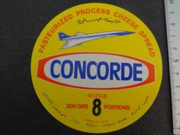 Etiquette De Fromage Concorde Etranger - Cheese