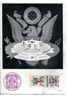 15150010 BE 19500716 Bastogne; Mémorial Bataille Des Ardennes; Inauguration; Voir La Description; 3 Cartes 3 Langues - Maximumkarten (MC)