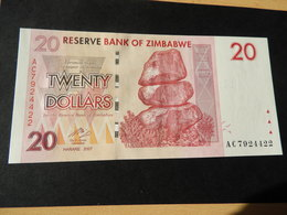 Bank Of Simbabwe 20 Dollars 2007 - Simbabwe