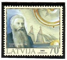 Latvia 2002 . History Of Navigation (K.J.Dals). 1v: 70. Michel # 573 - Lettonie