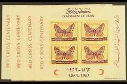 1963  Red Cross Centenary Imperf Miniature Sheet Set, SG MS 33b, Never Hinged Mint (4 Sheets) For More Images, Please Vi - Dubai